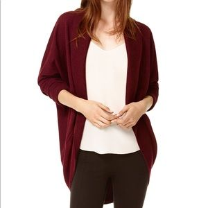 WILFRED • Burgundy Diderot Cocoon Sweater • Sz XXS